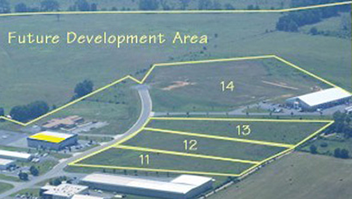 View of Happy Creek Technology Park development area