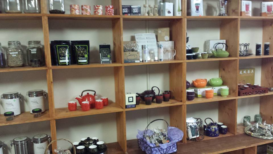 Check out The Vine & Leaf Cafe on Main Street, for all of your tea, chocolate, and wine needs!